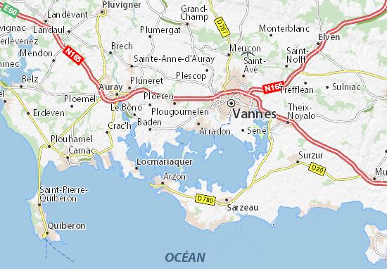 Carte-Plan Pointe d'Arradon