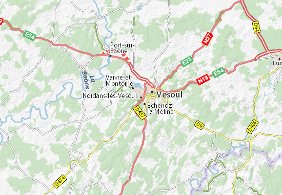 Mapa Plano Noidans-lès-Vesoul