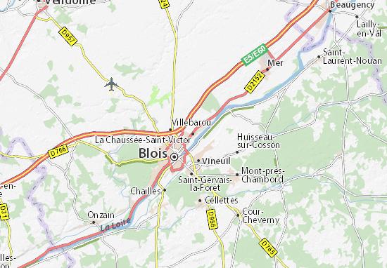 La Chaussée-Saint-Victor Map