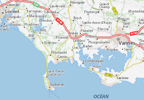 Mapa Plano Crac'h