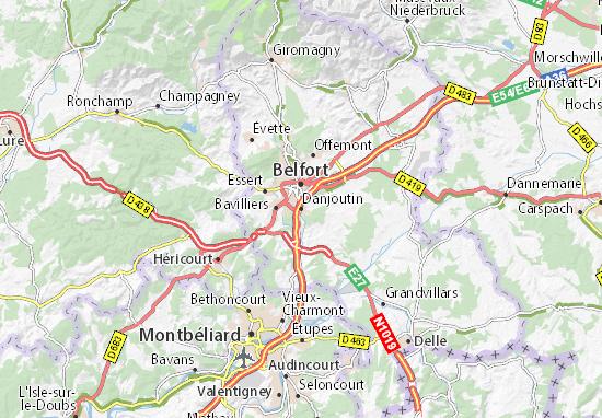 Danjoutin Map