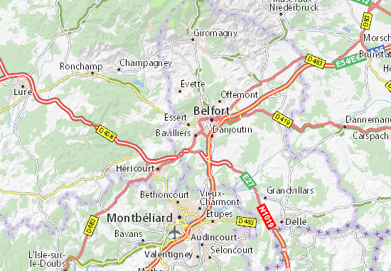 Bavilliers Map