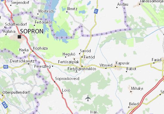 Karte Stadtplan Fertőd