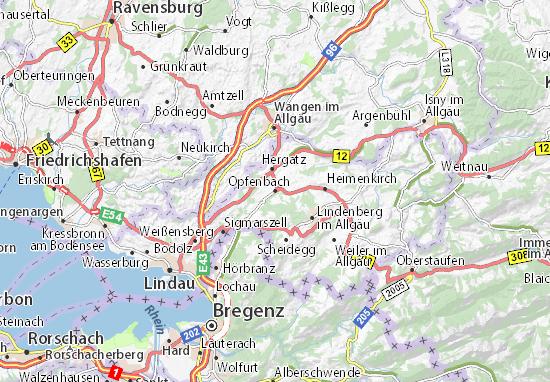 Carte-Plan Opfenbach