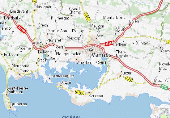 Moréac Map