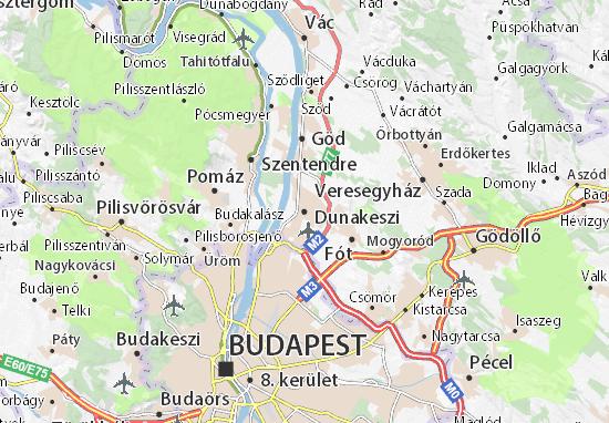 Kaart Plattegrond Dunakeszi