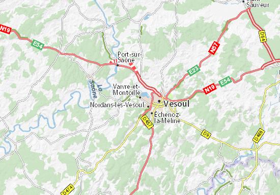 Mappe-Piantine Vaivre-et-Montoille