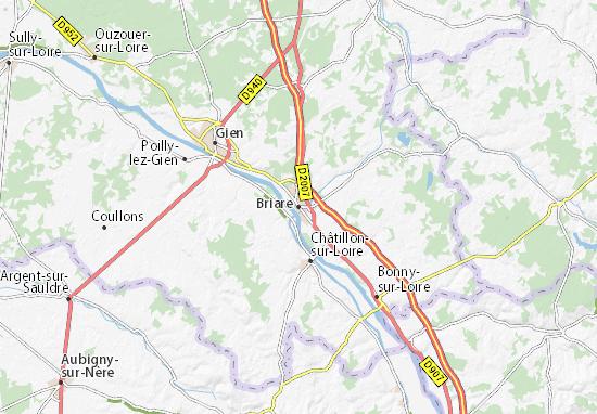 Briare Map