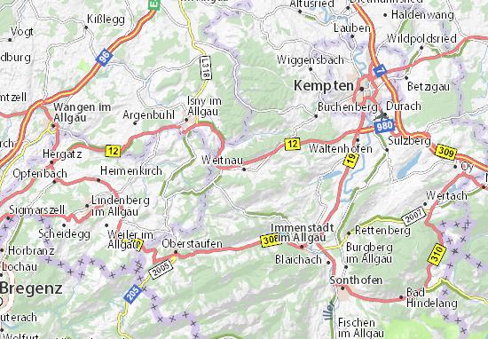 Weitnau Map
