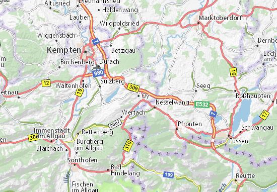 Karte Stadtplan Oy