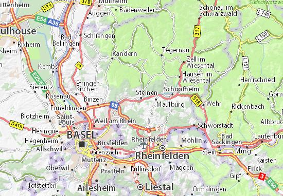 Karte Stadtplan Steinen
