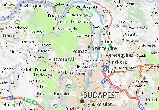 Mapas-Planos Pomáz