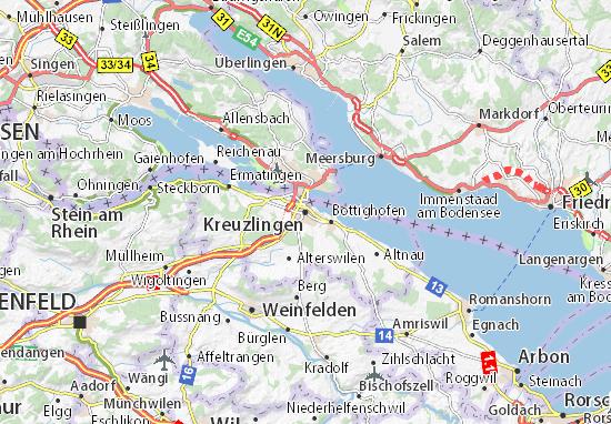 Kaart Plattegrond Kreuzlingen
