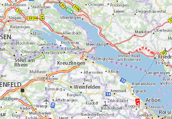 Carte-Plan Kreuzlingen