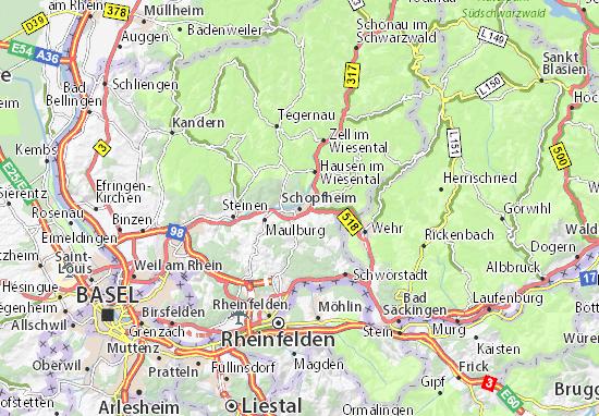 Carte-Plan Schopfheim