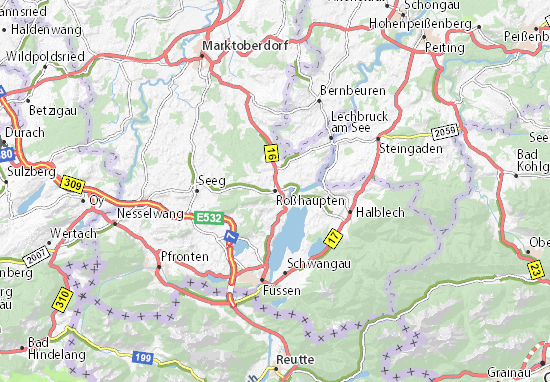 Karte Mit Hausnummern.Karte Stadtplan Roßhaupten Viamichelin