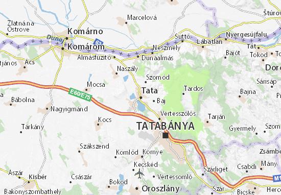 Karte Stadtplan Tata