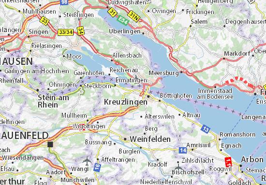 Karte Stadtplan Tägerwilen