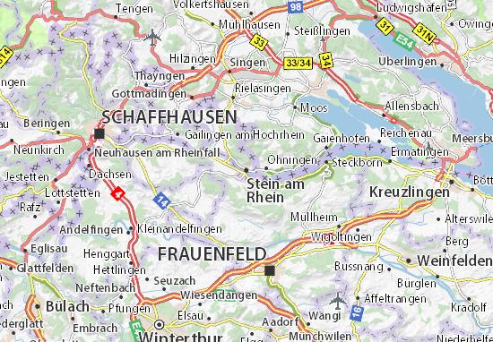 Karte Stadtplan Stein am Rhein