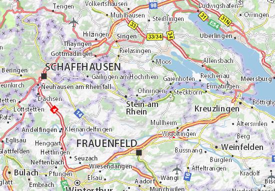 Karte Stadtplan Öhningen