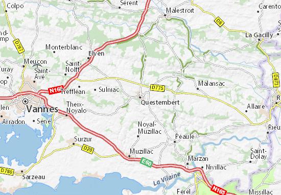 Kaart Plattegrond Questembert