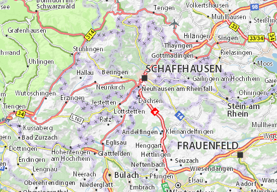 Karte Stadtplan Dachsen
