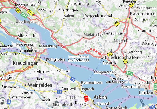Immenstaad am Bodensee Map