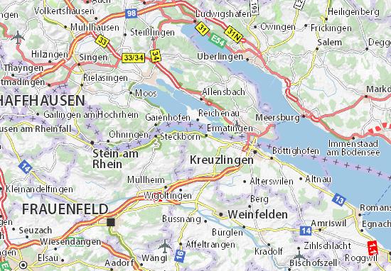 Bodensee Karte Schweiz.Karte Stadtplan Salenstein Viamichelin
