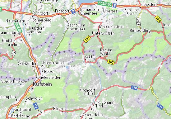 Kaart Plattegrond Kössen