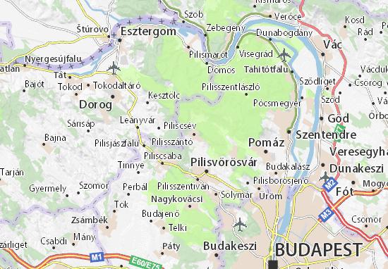 Karte Stadtplan Pilisszántó