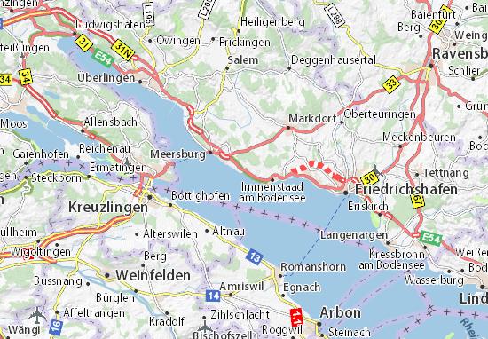 Karte Stadtplan Hagnau Am Bodensee Viamichelin