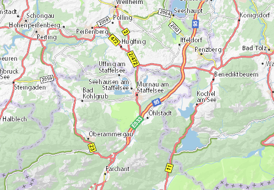Mappe-Piantine Murnau am Staffelsee