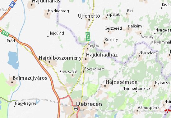 Hajdúhadház Map