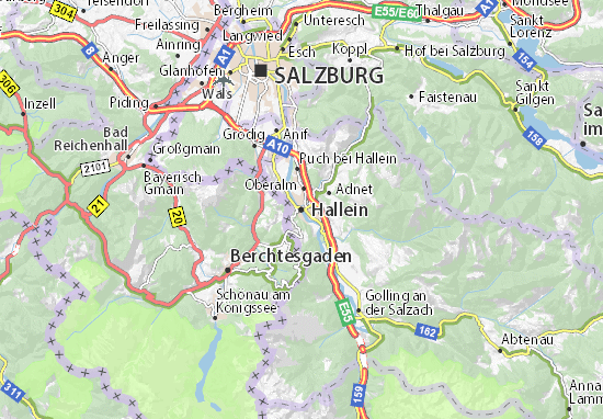 Mapas-Planos Hallein