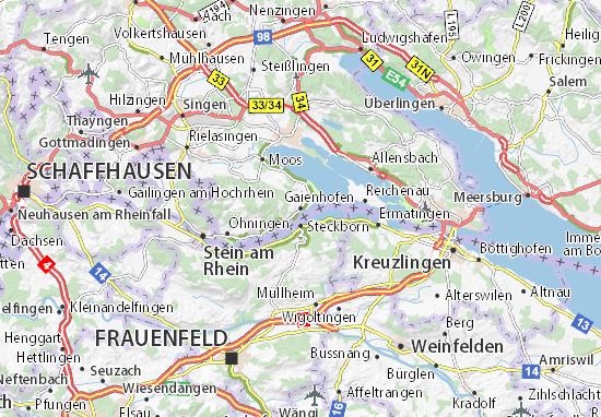 Karte Stadtplan Gaienhofen