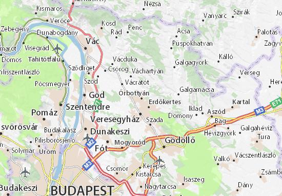 Őrbottyán Map