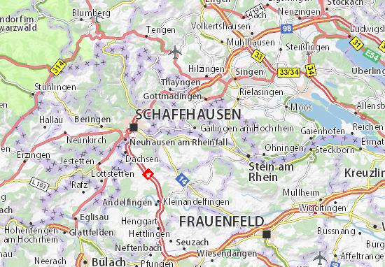 Karte Stadtplan Diessenhofen