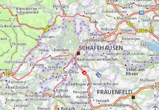 Karte Stadtplan Feuerthalen