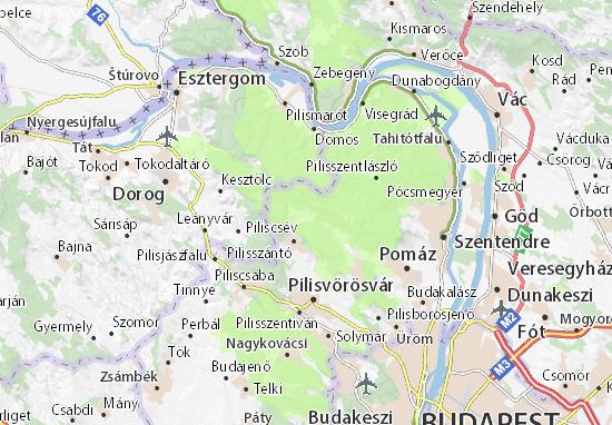 Pilisszentkereszt Map