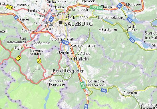Karte Stadtplan Adnet