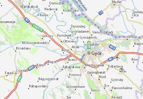 Karte Stadtplan Abda