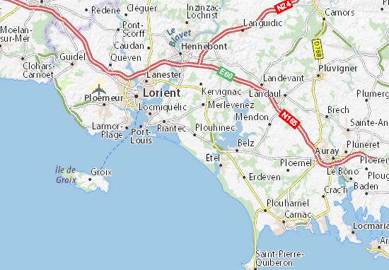 Carte-Plan Plouhinec