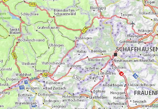 Karte Stadtplan Hallau