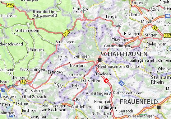 Karte Stadtplan Beringen