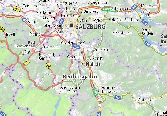 Karte Stadtplan Oberalm