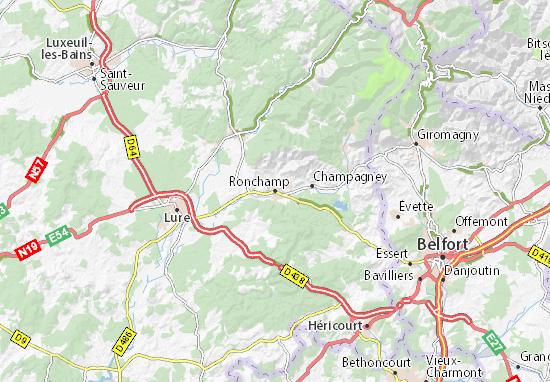Mapa Plano Ronchamp