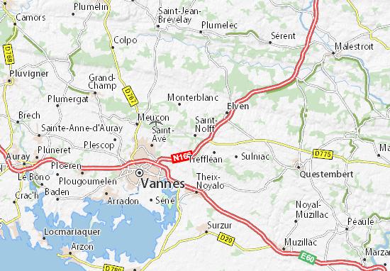 Karte Stadtplan Saint-Nolff
