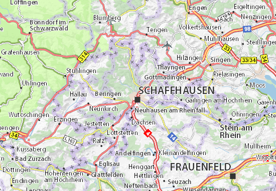 Schaffhausen Map