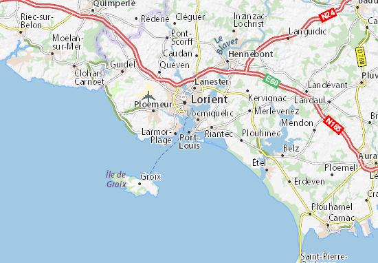 Carte-Plan Port-Louis