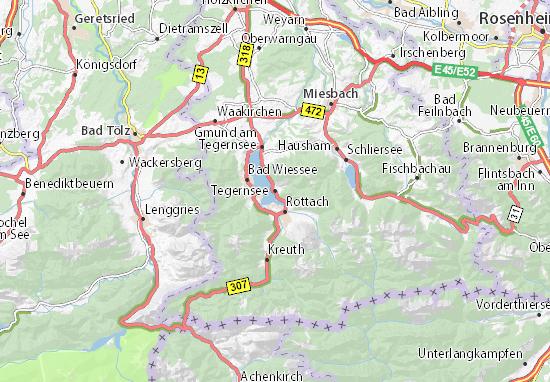 Carte-Plan Tegernsee